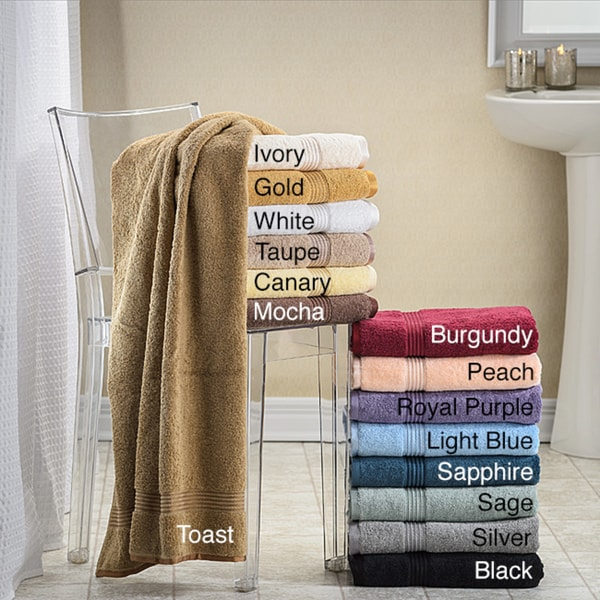 Superior Collection Luxurious 100-percent Premium Long-staple Combed Cotton Bath Towels (Set of 4)