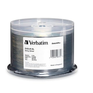 Verbatim DVD+R DL 8.5GB 8X DataLifePlus Shiny Silver Silk Screen Prin
