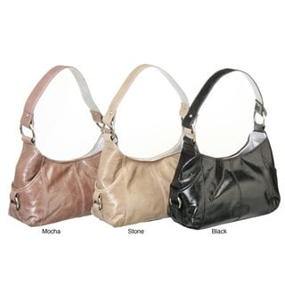 Shop Kenneth Cole Reaction Leather Small Hobo Bag ...
