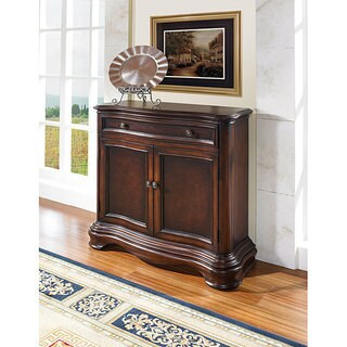 Hand-painted Two Tone Pecan and Brown Finish Accent Chest