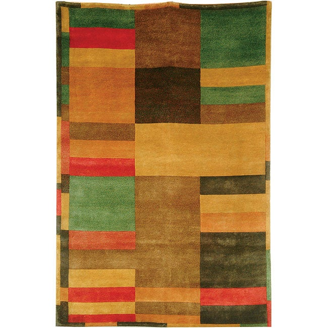 Safavieh Hand Knotted Deco Contemporary Wool Rug 4 X 6