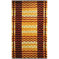 Safavieh Hand-knotted Zipper Contemporary Wool Rug - 6' x 9'