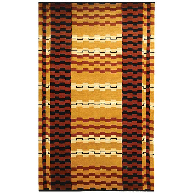 Safavieh Hand-knotted Zipper Contemporary Wool Rug - multi - 8' x 10'