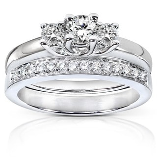 Annello by Kobelli 14k Gold 5/8ct TDW Diamond Bridal Rings Set (G-I, I1-I2)