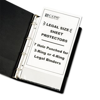 Sheet Protectors for 8.5x14-inch Inserts (Pack of 50)