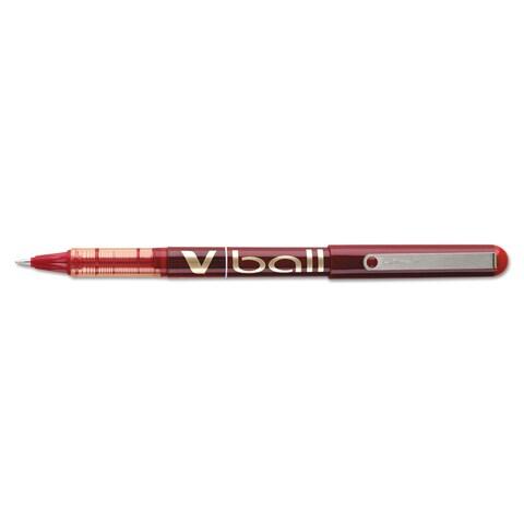 Pilot Vball Red Liquid Ink Roller Ball Pens (Pack of 12)