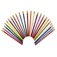 Col-erase colored woodcase pencils with eraser, 24 assorted colors/set