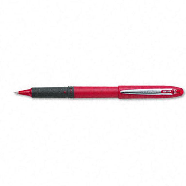 Uni-Ball Red Roller Grip Pen (Pack of 12)