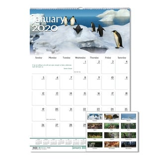House of Doolittle Recycled Wildlife Scenes Monthly Wall Calendar, 15 1/2 x 22, 2018