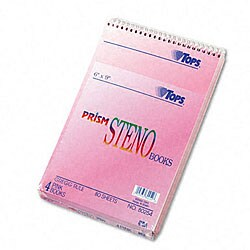 Prism 6x9-inch Ruled Steno Notebooks (Pack of 4)