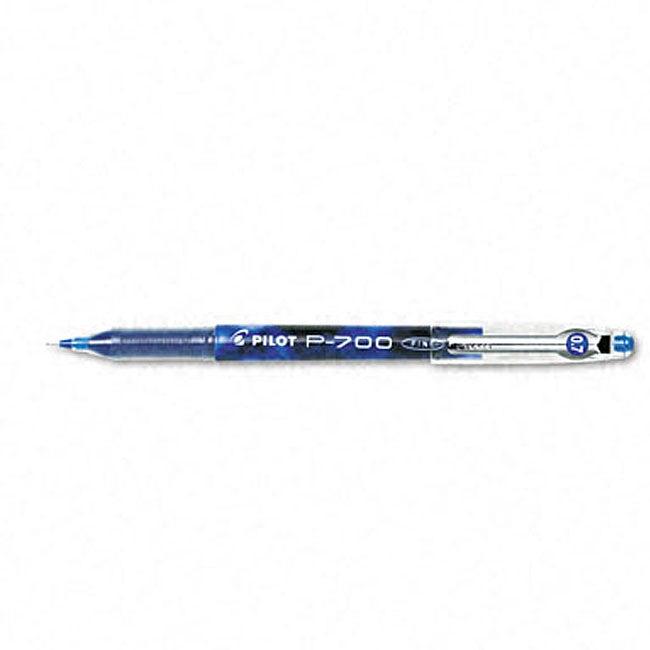 Pilot P-700 Blue Gel Ink Roller Ball Pens (Pack of 12)