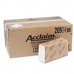 Acclaim White Single-fold Towels (Pack of 16)