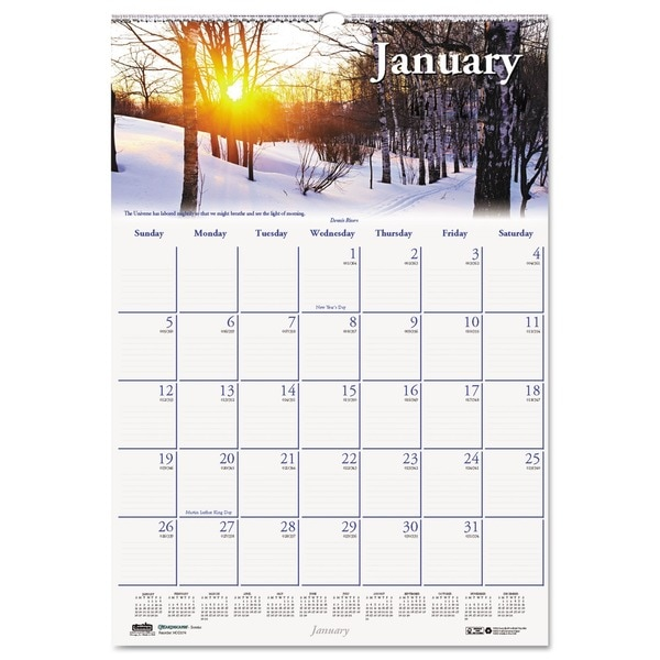 House of Doolittle Scenic Beauty Monthly Wall Calendar 2016