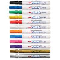 Uni-Paint Weatherproof Oil-based Paint Marker (Pack of 12)
