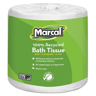 Marcal 100-percent Recycled White Two-ply Embossed Toilet Tissue (Pack of 48)