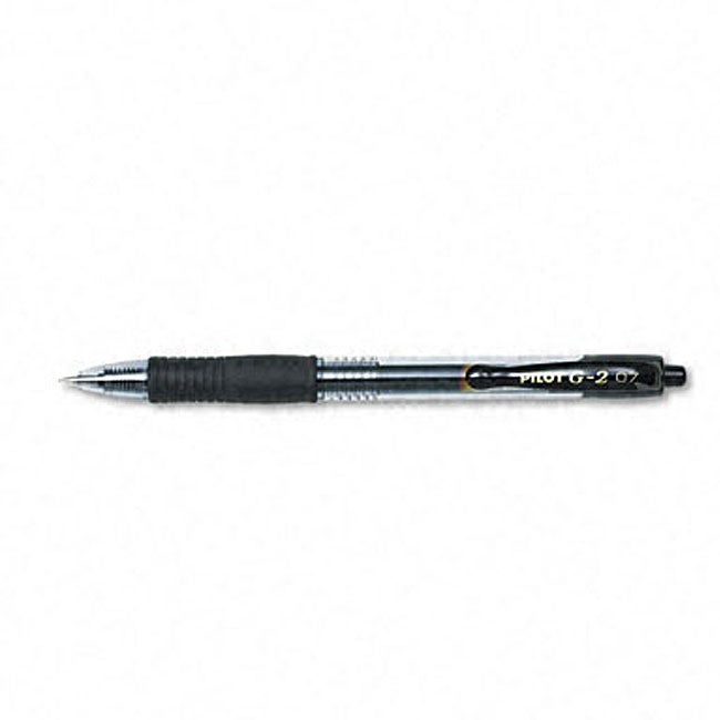Pilot G2 Black Gel Ink Retractable Pen (Pack of 12) (Pilo...