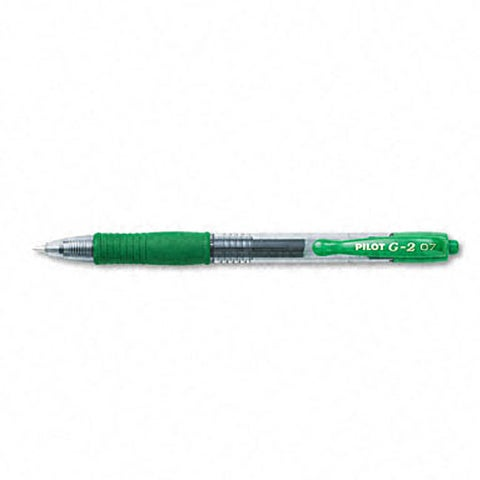 Pilot G2 Fine Point Green Gel Ink Roller Ball Pens (Pack of 12)