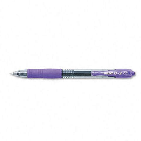 Pilot G2 Fine-Point Purple Gel Ink Roller Ball Pens (Pack of 12)