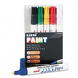 Uni-Paint Oil-based Paint Markers (Pack of 6)