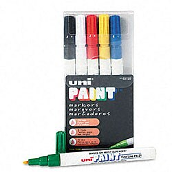 Uni-Paint Oil-based Fadeproof Paint Markers (Pack of 6)