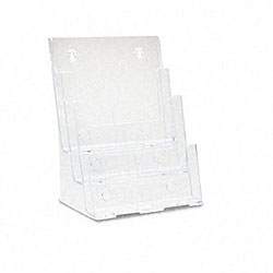 Deflecto Three-tier Multi-Pocket Clear Docuholder