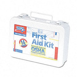 ANSI-compliant First Aid Kit with 16 Units
