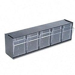 Deflecto Five-bin Tilt Storage System