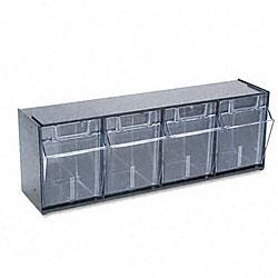 Deflecto Four-bin Tilt Storage System