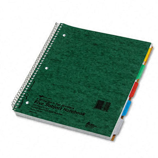 Wirebound 5-subject Write-on Tab Notebook - Free Shipping On ...
