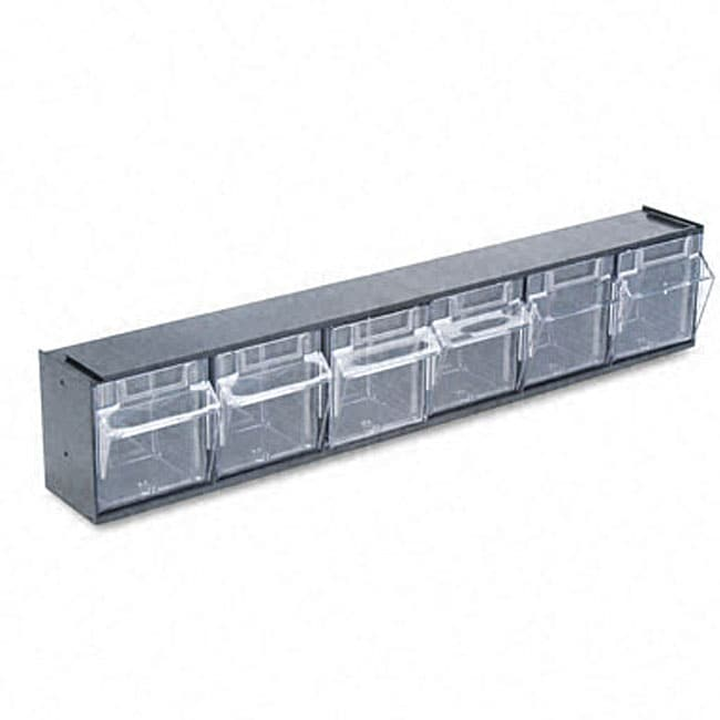 Deflecto Black 6-bin Tilt Bin Storage System  sc 1 st  Overstock.com & Shop Deflecto Black 6-bin Tilt Bin Storage System - Free Shipping On ...