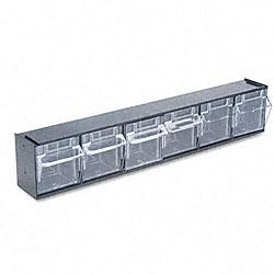 Deflecto Black 6-bin Tilt Bin Storage System