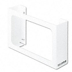 White Enamel Disposable Glove Dispenser
