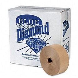 Blue Diamond Gummed Kraft Sealing Tape (Pack of 12 Rolls)