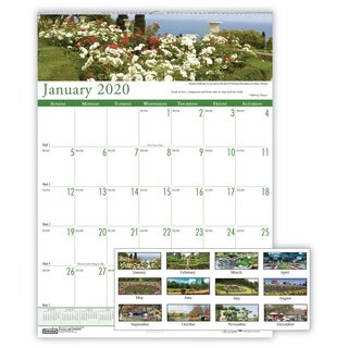 House of Doolittle Recycled Gardens of the World Monthly Wall Calendar, 15 1/2 x 22, 2019