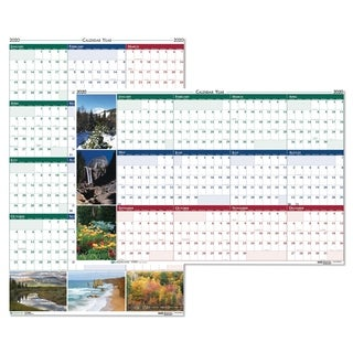 House of Doolittle Recycled Earthscapes Nature Scene Reversible Yearly Wall Calendar, 24 x 37, 2019