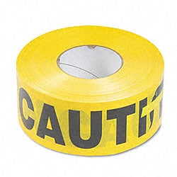 Caution Barricade Safety Tape - Yellow/Black
