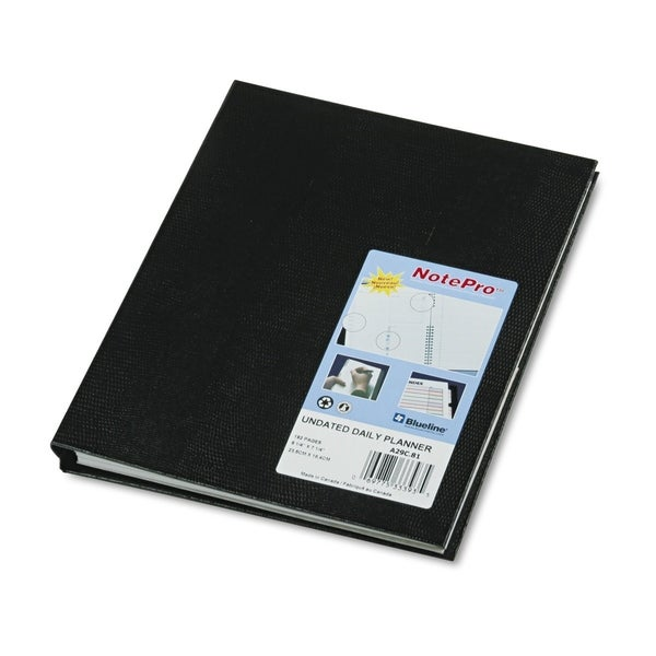 Blueline NotePro Undated Daily Planner, 9-1/4 x 7-1/4, Black. Opens flyout.