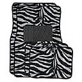 Front and Rear Black/ White Floor Mats