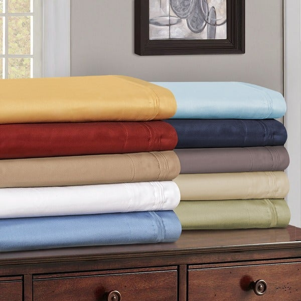 superior egyptian cotton thread count olympic queen solid sheet set - Queen Sheet Sets