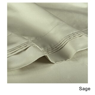 Superior Egyptian Cotton 1000 Thread Count Olympic Queen Solid Sheet Set (Option: Sage)