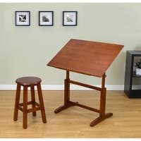 Studio Designs Creative Wood 32-inch Wide Drafting Table with Stool Set