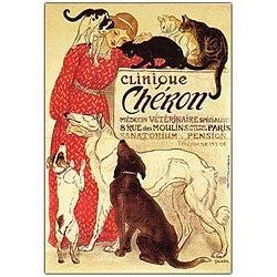Theophile Steinlen 'Clinique Cheron' Framed Canvas Art