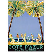 Jean Dumergue 'Cote D'Azur' Framed Canvas Art