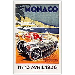 George Ham 'Monaco 13 Avril 1936' Framed Canvas