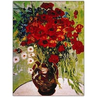 Vincent Van Gogh 'Daisies and Poppies' Canvas Art