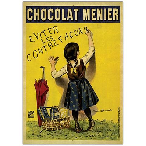 Firmin Boisset 'Chocolate Menier' Framed Canvas Art