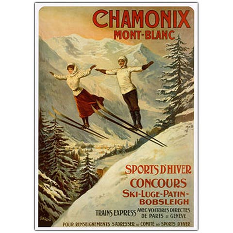 Francisco Tamagno 'Chamonix Mont Blanc' Canvas Art