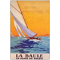 Charles Allo 'La Baule' Framed Canvas Art - Thumbnail 0