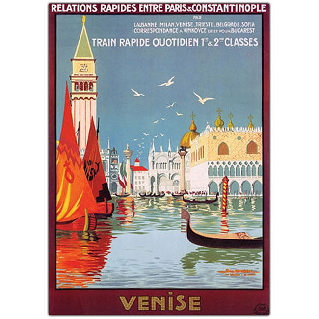 Georges Dorival 'Venise' Framed Canvas Art