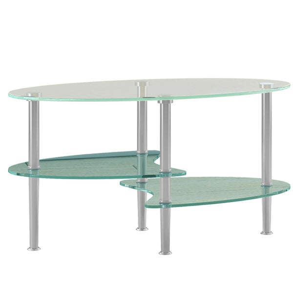 Modern Frosted Glass 38inch Coffee Table Free Shipping Today